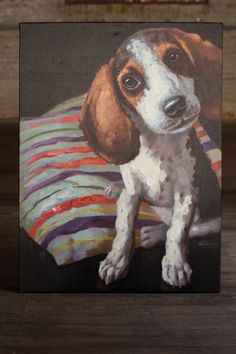 beagle puppy painting  $329.00