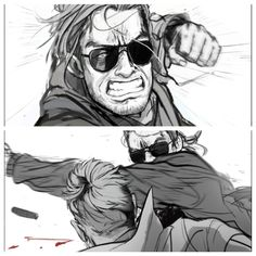Kaz punches the real Big Boss after the events of Metal Gear Solid V The Phantom Pain
