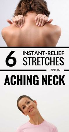 6 instant relief stretches for an aching neck 7 yoga poses to help relieve neck pain Neck And Shoulder Stretches, Sore Neck And Shoulders, Neck And Shoulder Pain, Neck And Back Pain, Stiff Neck Stretches, Shoulder Pain Relief, Neck Pain Relief, Finger Yoga, Neck Pain Treatment