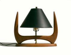 The Nifty Fifties Danish Modern, Midcentury Modern, I Love Lamp, Mid Century Modern Lighting, Table Lamp Wood, Standard Lamps, Walnut Table, Furniture Inspiration, Vintage Lighting