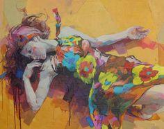 古河原泉 作品:「ここちよい交錯」(2015/9 F30,油彩,キャンバス)