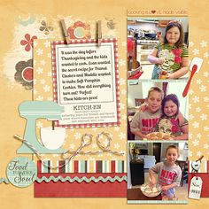 Digital scrapbook layout using Homemade Happiness