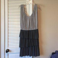 Laundry Shelli Segal pleated dress Laundry by Shelli Segal gray pleated dress Laundry by Shelli Segal Dresses