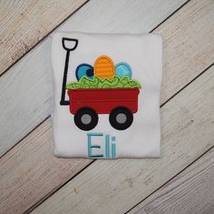 Personalzied Wagon Easter Shirt