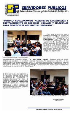 Capacitación del Comité Directivo del Sindicato de Servidores Públicos en el Ayuntamiento de Guadalajara.