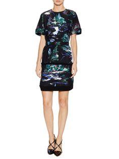 Forest Print Dress from Balenciaga Apparel on Gilt