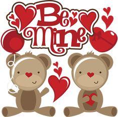 Be Mine SVG scrapbook collection reddy bear svg file for scrapbookins valentines day svg files