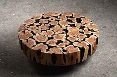 Coffee Table in Aromatic Red Cedar Wood by Jaehyo Lee
