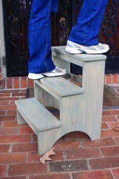 Step Stools Vintage Style And Stools On Pinterest