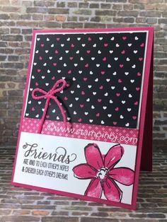 Garden in bloom, pop of pink, Stampin' Up!, #gardeninbloom, #popofpink,