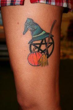 Halloween inspired pagan / wiccan tattoo