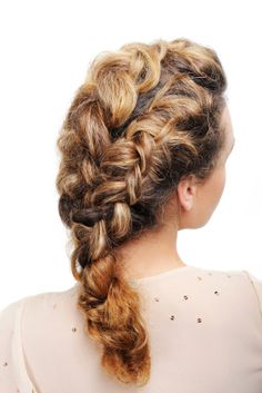 Multiple french braids.