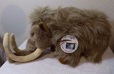 """DISCOVERY CHANNEL """"SIBER"""" THE WOOLLY MAMMOTH DINOSAUR LARGE STUFFED PLUSH TOY"""