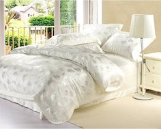 Wholesale 4 pcs hot sale silk satin beddding set plaid jacquard brand design bed linen promotion bedding/quilt cover/bedspread-in Bedding Sets from Home & Garden on Aliexpress.com