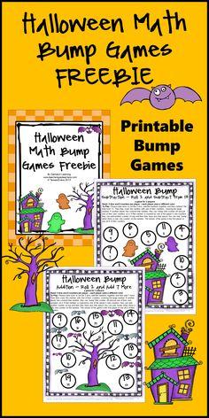 FREEBIE - Halloween Math Bump Games Freebie from Games 4 Learning gives you 2 Halloween Math Board Games that are perfect for Halloween math activities. These are ideal as October math activities! Free Math Games, Math Board Games, Math Boards, Fun Math, Maths, Math Classroom, Kindergarten Math, Teaching Math, Teaching Ideas