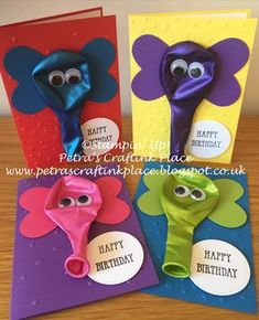 CraftInk Place: birthday cards with elephant balloons, . Petra's CraftInk Place: birthday cards with elephant balloons, . - Geschenke verpacken - Petra's CraftInk Place: birthday cards with elephant balloons, . Simple Birthday Cards, Homemade Birthday Cards, Kids Birthday Cards, Homemade Cards, Birthday Diy, Creative Birthday Cards, Birthday Wishes, Birthday Sayings, Homemade Greeting Cards