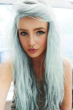 #hair color #pastel hair #blue hair