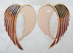 80s Vintage Earrings Large TwoTone Pale by KKCollectibleCollage, $3.50 https://www.etsy.com/listing/159201674/80s-vintage-earrings-large-two-tone-pale