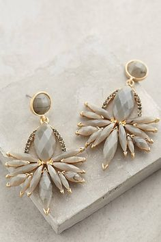 Grey gorge statement earrings
