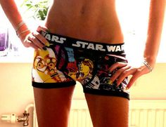 @Charlotte Pelker l Star Wars Boxer Briefs - for girls!...shhhh dont tell anyone but im buying these for you for your wedding night...i dc how hard they are to find :)