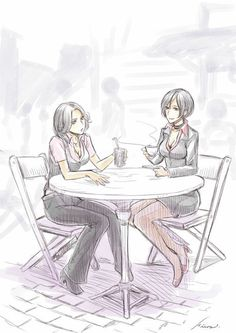 Helena Harper and Ada Wong Resident Evil Anime, Resident Evil Girl, Resident Evil Collection, Leon S Kennedy, Zombie Apocalypse Survival, Saga, Ada Wong, Scary Art, Game Art