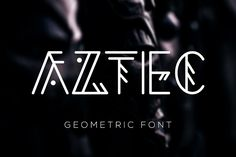 Aztec Geometric Font Fonts Hey everyone! I'm glad to introduce you new decorative **Aztec Geometric font**! It's perfect for br by Katrinelly Pretty Fonts, Cool Fonts, Zumba, Tribal Letters, Script, Minimalist Font, Futuristic Fonts, Geometric Font, Banner