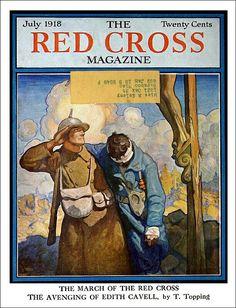1918 July Old Magazines, Vintage Magazines, Vintage Ads, Vintage Posters, Vintage Photos, Graphic Illustration, Comic Illustrations, Ad Art, Red Cross