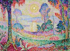 Couchée de Soleil No. 1 - Jean Metzinger 1906 Style Divisionism