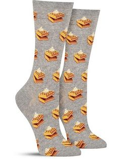 After you pick up these fun waffle socks, we suggest your next purchase be a waffle iron and like a year's supply of syrup. It's a life-changer.