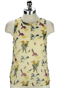 i do love a bird blouse