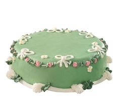 A European yellow cake layered with pastry cream and raspberry preserves. Frosted with a thin layer of vanilla buttercream and cloaked in green marzipan (almond Elegant Wedding Cakes, Elegant Cakes, Cute Cakes, Yummy Cakes, Sweet Lady Jane Bakery, Princess Torte, Full Sheet Cake, Best Cake Ever, New Cake
