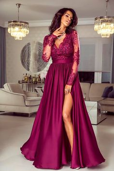 Stunning Prom Dresses, Pretty Prom Dresses, Red Wedding Dresses, Elegant Dresses, Bad Dresses, Prom Dresses With Sleeves, Nice Dresses, Prom Outfits, Dress Outfits