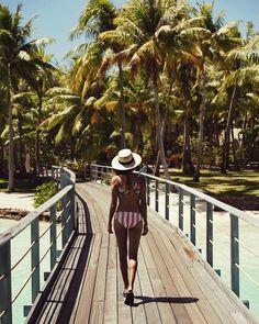 "Shop Sincerely Jules on Instagram: ""Postcard from Bora Bora. 🌴☀️   Shop our Maui Bikini top + bottom: shopsincerelyjules.com"" • Instagram"