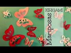 Decora tu Habitación con Mariposas de Papel (fácil y rápido), Mariposas Kirigami, Mariposas 3D - YouTube