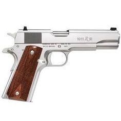 "Remington Model 1911 R1S Semi Auto Handgun .45 ACP 5"" Barrel 7 Rounds Double Diamond Walnut Grips Stainless Steel  http://www.cheaperthandirt.com/product/78879"