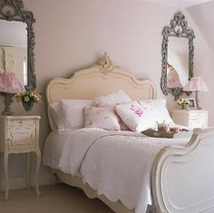 love the dual mirrors, chic and shabby