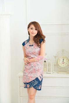 Chinese Printed dress cheongsam