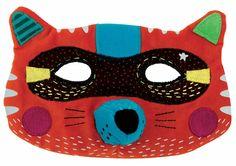 masque animaux, renard, mardi-gras, déguisement, maquillage, création, carnaval, déguiser, Moulin roty