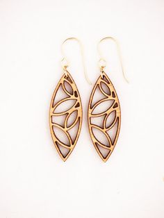 Leaves Laser Cut Earrings by foliadesignsf on Etsy, $44.00