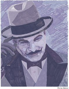 Hercule Poirot (David Suchet) by Philip Dennis