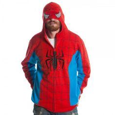 Marvel Spiderman Men's Red Costume Hoody (Large) Spiderman Man, Spiderman Hoodie, Spiderman Suits, Spiderman Costume, Red Costume, Costumes, Hooded Sweatshirts, Hoodies, Thing 1
