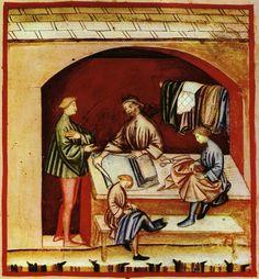 Usos de la seda, tacuinum sanitatis casanatensis (siglo XIV).    http://es.wikipedia.org/wiki/Seda