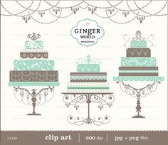 Elegant Luxury pink and mocha brown chic Wedding Cake clip art multi-tier cake Luxury Wedding Cake, Chic Wedding, Wedding Paper, Wedding Cards, Wedding Cake Illustrations, Cake Clipart, Blue Cakes, Bleu Turquoise, Clip Art