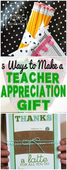 DIY Teacher Gifts | Show your children's teachers how much your appreciate all their hard work with a special gift, like these five handmade teacher gift ideas!