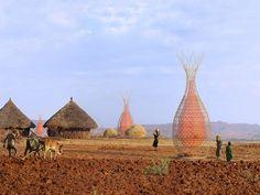 WarkaWater: Una cesta gigante que usa condensación para recolectar agua potable - http://growlandia.com/marihuana/warkawater-una-cesta-gigante-que-usa-condensacion-para-recolectar-agua-potable/