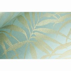 Graham & Brown Tropic x Wallpaper Roll Color: Aqua/Gold Gold Wallpaper, Wallpaper Roll, Pattern Wallpaper, Living Room Wallpaper Ideas Brown, Tapete Gold, Turquoise Wallpaper, Tropical Wallpaper, Stunning Wallpapers, Graham Brown