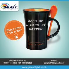 A morning is the best to give your loved ones. But what would you on that mug to make it special? Yes I Can, Customise T Shirt, Mug Printing, Galaxy Print, Printing Services, Cool T Shirts, Printed Shirts, Digital Prints, How To Make