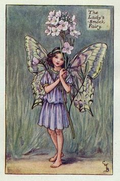 Lady's-Smock Flower Fairy Vintage Print, Cicely Mary Barker Book Plate Illustration by TheOldMapShop on Etsy Cicely Mary Barker, Vintage Fairies, Vintage Flowers, Fantasy Kunst, Fantasy Art, Images Victoriennes, Spring Fairy, Fairy Pictures, Beautiful Fairies