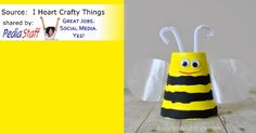 Super Cute Bee Cup Craft   - pinned by @PediaStaff – Please Visit  ht.ly/63sNt for all our pediatric therapy pins