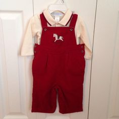 Found while shopping at TotSpot iPhone app: Janie And Jack baby boy corduroy overalls. Download TotSpot from the app store.